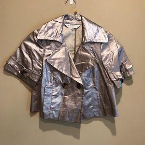 Trina Turk Brushed Silver Jacket Size 0